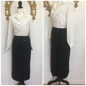Jones New York 100% Wool Black Skirt Size 10